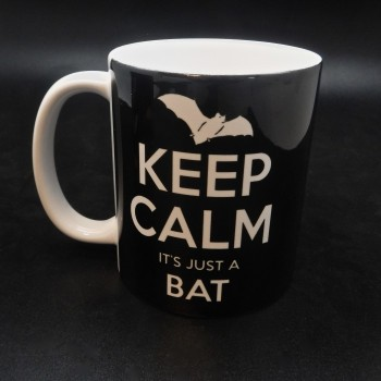 Keep Calm It's Just A Bat Coffee Mug - Product Image