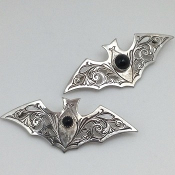 Kit Carson Sterling Victorian Bat - Product Image