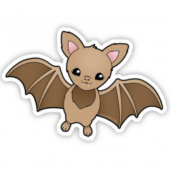 Lux Bat Adhesive Sticker - Product Image