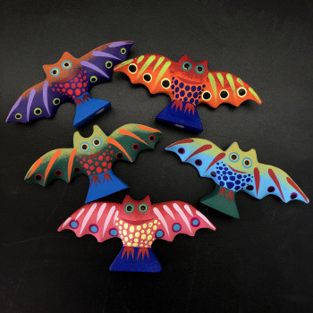 Medium Oaxacan Carved Bat Figures - Product Image