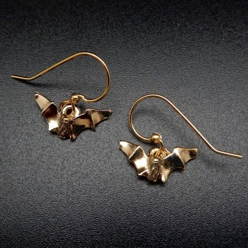Myotis 14K Gold Plate Earrings - Product Image