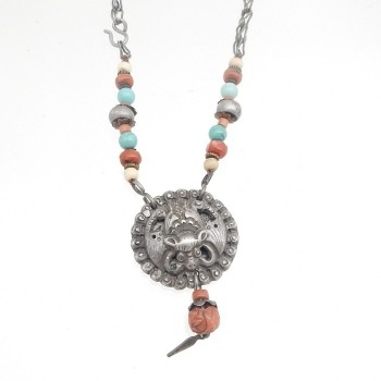 Chinese Bat With Stone Beads - Product Image