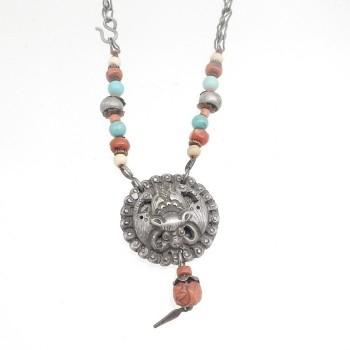 Chinese Bat With Stone Beads - Product Image
