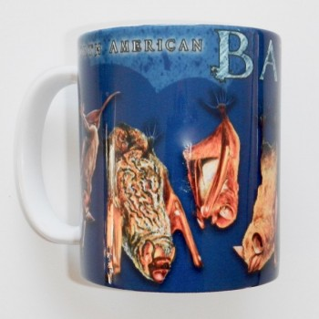 North American Bats Mug (Blue Background) BACK ORDER ITEM - Product Image