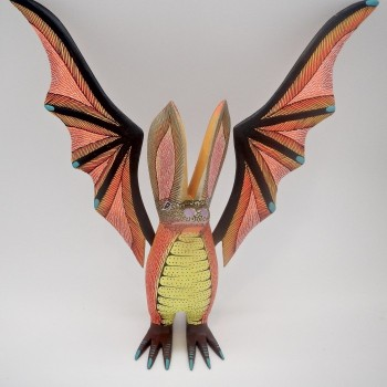 Oaxacan Carved Bat By Blas - Product Image