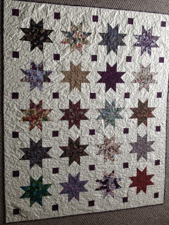 "Oriental Stars With Bats  58"" by 70"" Quilt - Product Image"