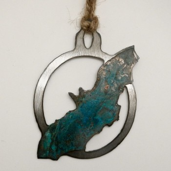 Patina Bat Ornament - Product Image