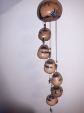 Peruvian Gourd Bat Wind Chime Out Of Stock - Product Image