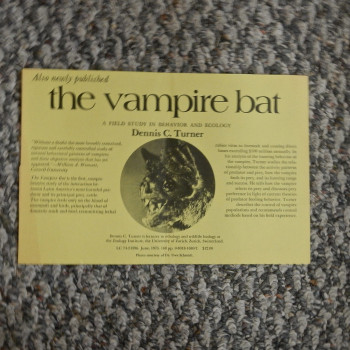 Publication announcement for Turner, the Vampire Bat - Product Image