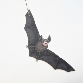 Recycled Paper Feeding Bat Ornament - Product Image