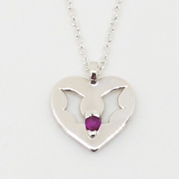 Ruby Love Bat Pendant - Inquire for current price  - Product Image