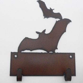 Rustic Bat Double Key Hook - Product Image