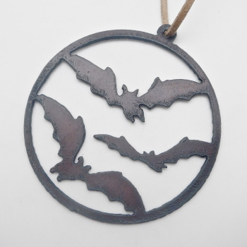 Rustic Bats In Flight Ornament - Product Image