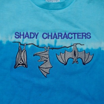 """Shady Characters"" Batty Embroidered Youth Tee Shirt - Product Image"