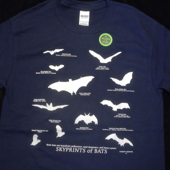 Sky Prints Of Bats Adult Tee Shirt  - Product Image