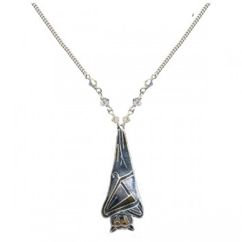 Sleeping Bat Necklace by Bamboo - Product Image