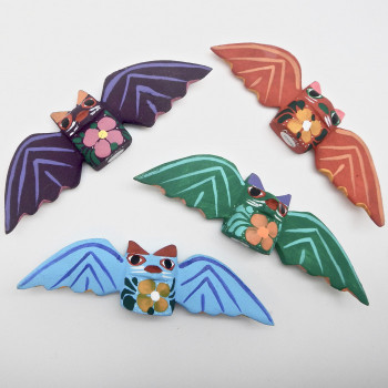 Small Oaxacan Carved Bat Figures - Product Image