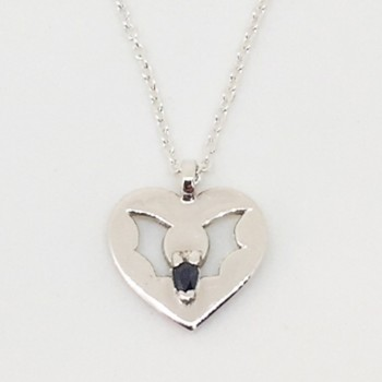 Saphire Love Bat Pendant  - Product Image