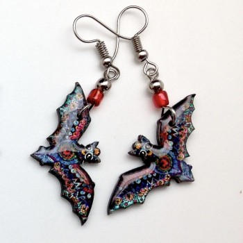 Spirit Of Nature Multi Color Bat Earrings - Product Image