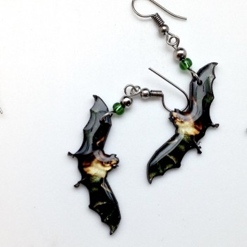 Spirit Of Nature Natural Bat Earrings- out of stock - Product Image