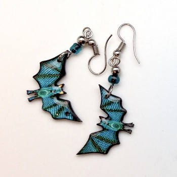 Spirit Of Nature Turquoise Bat Earrings - Product Image