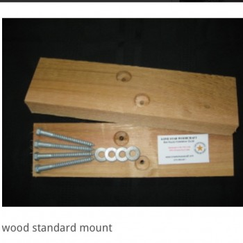 Standard Wood Bat House Mount - Product Image