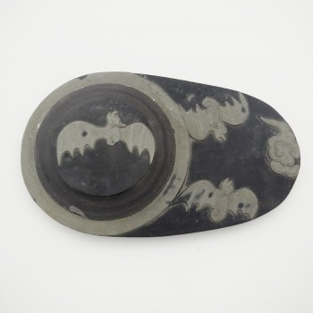 Stone Inkwell Featuring Bat - Product Image