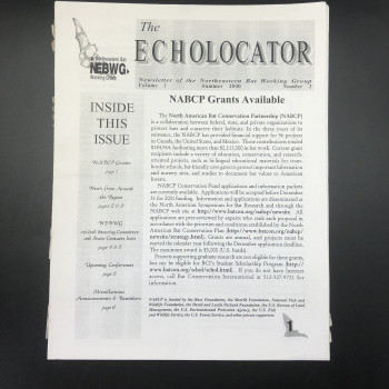 The Echolocator: Newsletter of the Northeastern Bat Working Group - Product Image