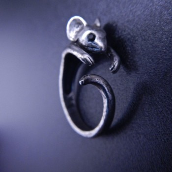 Tiny Mouse Ring (Size 5) - Product Image