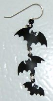 Triple Bat Silhouette Earrings - Product Image