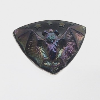 Period Carnival Glass Bat Hat Pin - Product Image