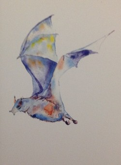 Watercolor Bat Card - Product Image