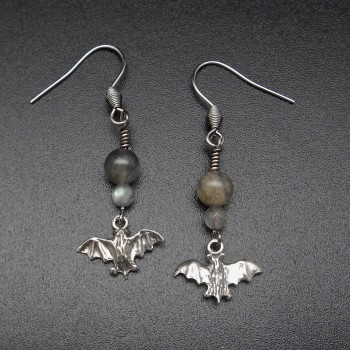 Whimsea By Lo Bat Charm Earrings - Product Image