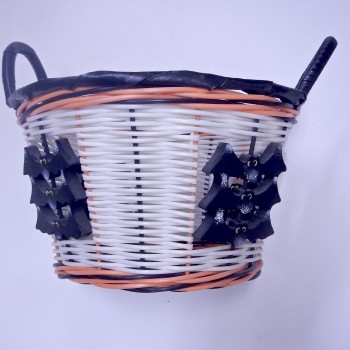 White And Orange Bat Basket - Product Image